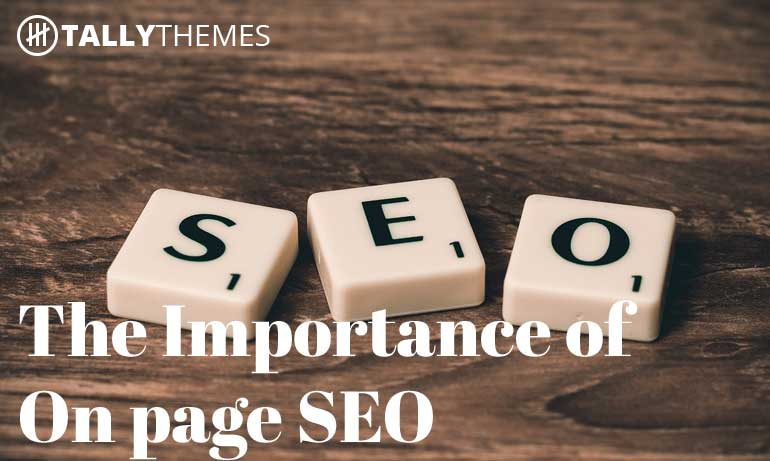 The importance of On page SEO