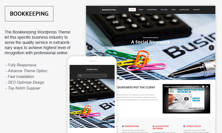 Free Bookkeeping WordPress Theme
