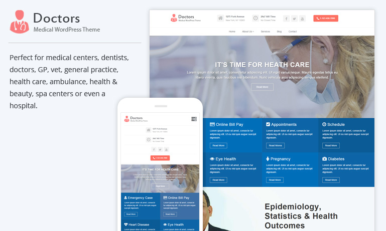 Doctors Pro – Medical WordPress Theme
