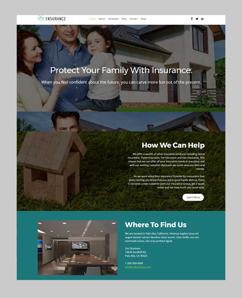 Free Insurance Agency WordPress Theme - Insurance Now Lite